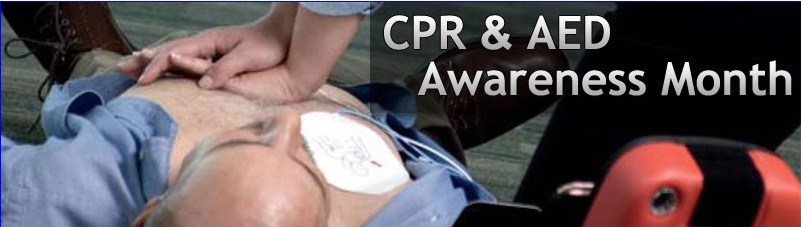 CPR & AED Awareness Month is June - schedule your classes now... Beat the Rush!